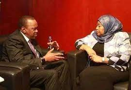 Kenyatta Hosts Suluhu Hassan - Photo Facebook