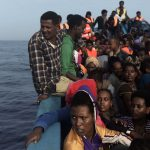Migrants Setting Out on Perilious Journey - Photo The Irish Times