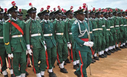 Nigerian Soldiers during a Military Parade in the Capital, Abuja - Photo Vanguard News