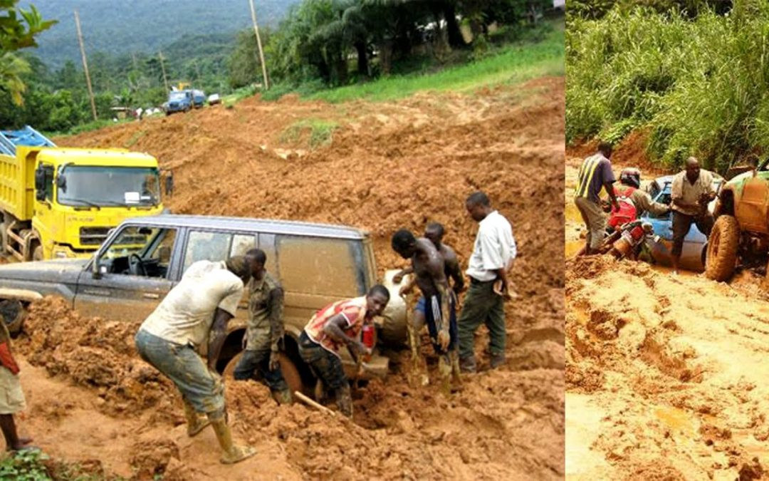Ambazonia-Cameroon: Over 300 Vehicles Stranded in Mud