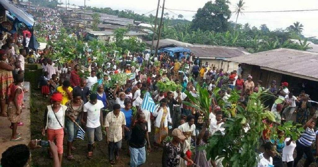 Street Celebrations of Independence Restored in Ambazonia - Photo Ambazonia Genocide Library