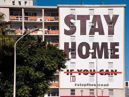 Billboard Urges South Africans to Stay Home - Photo The Conversation