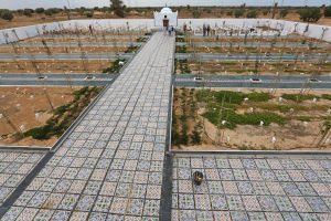 Cemetery Set Up by Algerian Artist - Photo Middle East Monitor
