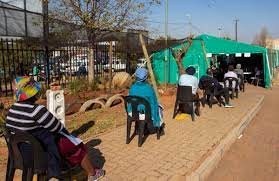 The Elderly Queue at a Vaccination Site in South Africa - Photo WFMZ